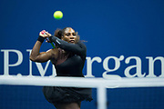 FLUSHING MEADOW, NY - AUGUST 27: SERENA WILLIAMS (USA) day one of the 2018 US Open on August 27, 2018 at Billie Jean King National Tennis Center in Flushing Meadow, NY. (Photo by Chaz Niell/Icon Sportswire)