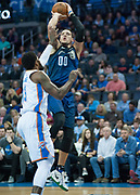 OKLAHOMA CITY, OK - FEBRUARY 26: Orlando Magic Forward Aaron Gordon (00) shooting a jump shot versus Oklahoma City Thunder at Chesapeake Energy Arena Oklahoma City, OK (Photo by Torrey Purvey/Icon Sportswire)