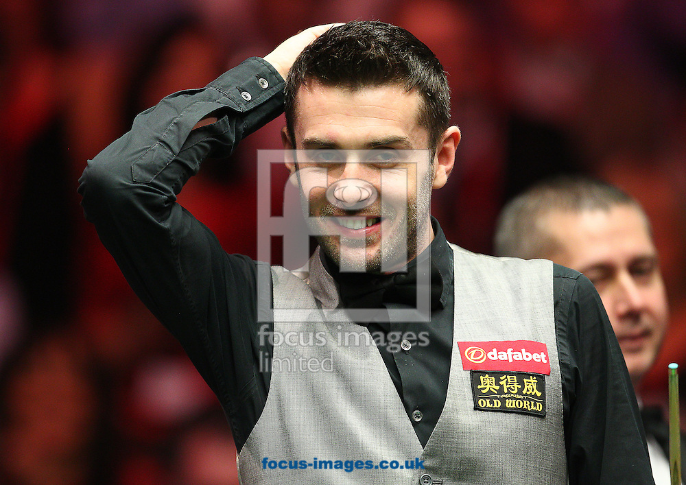 Picture by Paul Terry/Focus Images Ltd +44 7545 642257<br /> 19/01/2014<br /> Mark Selby looks on during The Masters final at Alexandra Palace, London.