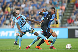 April 19, 2018 - Brugge, BELGIUM - Charleroi's Amara Baby and Club's Wesley Moraes fight for the ball during the Jupiler Pro League match between Club Brugge and Sporting Charleroi, in Brugge, Thursday 19 April 2018, on day four of the Play-Off 1 of the Belgian soccer championship. BELGA PHOTO BRUNO FAHY (Credit Image: © Bruno Fahy/Belga via ZUMA Press)