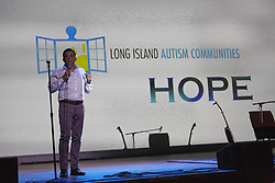 April 13, 2017 - Westbury, New York, United States - Long Island Autism Communities, Inc Founder Charles Massimo speaks to the attendees of this evenings funder raiser. (Credit Image: © Mark J Sullivan/Pacific Press via ZUMA Wire)