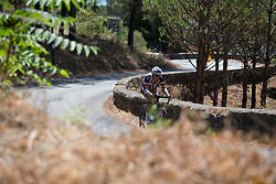 Lucinda Brand (NED) of Team Sunweb works hard on the final climb of Stage 10 of the Giro Rosa - a 124 km road race, starting and finishing in Torre Del Greco on July 9, 2017, in Naples, Italy. (Photo by Balint Hamvas/Velofocus.com)