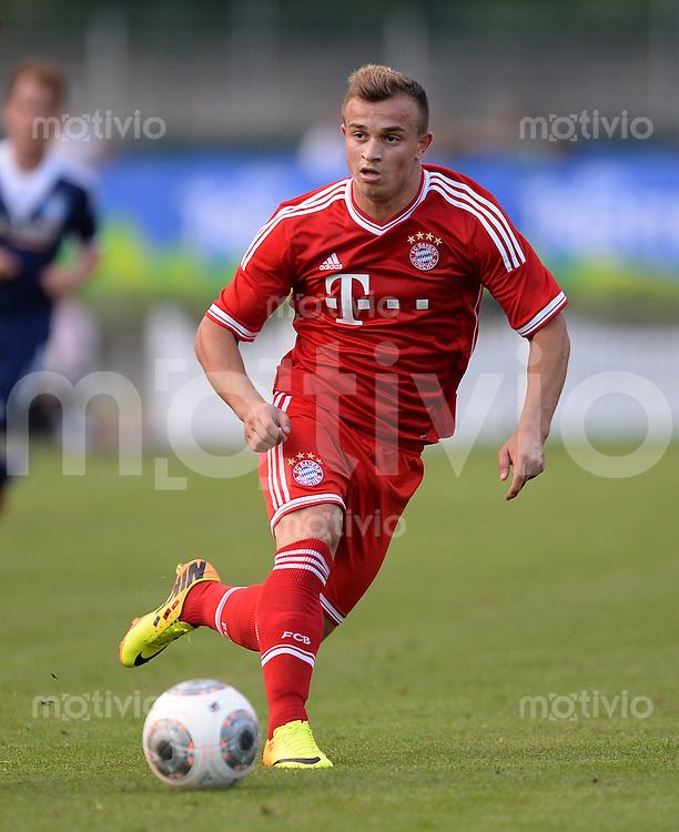 FUSSBALL  1. Bundesliga   2013/2014   Testspiel  FC Bayern Muenchen - Paulaner Traumelf      05.07.2013 Xherdan Shaqiri (FC Bayern Muenchen) am Ball
