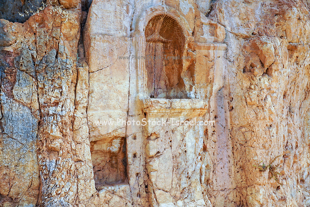 The Court of Pan and the Nymphs, 3rd Century BCE. Hermon Stream Nature reserve and Archaeological Park (Banias) Golan Heights Israel
