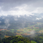 View of mist and clouds over the Umphang Valley in Tak, Thailand.