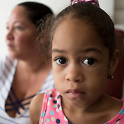 AUGUST 27, 2018--CATA&ntilde;O---PUERTO RICO--<br /> Maria Ayala Febus, 33, and her daughter Yuleisy Febus Ayala, 4, residents of Barrio Palmas of Cata&ntilde;o. Ayala has been living with her husband and two children in a relative's house while her house is rebuilt.<br /> (Photo by Angel Valentin/Freelance)