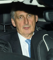 © Licensed to London News Pictures. 12/12/2018. London, UK. Chancellor PHILIP HAMMOND seen leaving the Houses of Parliament in Westminster after PM Theresa May faced a vote of confidence from her own party. Photo credit: Ben Cawthra/LNP