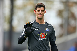 Thibaut Courtois of Chelsea waves to the fans during warm ups - Mandatory by-line: Jason Brown/JMP - 14/10/2017 - FOOTBALL - Selhurst Park - London, England - Crystal Palace v Chelsea - Premier League