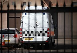 © Licensed to London News Pictures. 03/04/2013.Nottingham, UK. The van at Nottingham crown Court which brought the Mairead Philpott, Michael Philpott and Paul Mosley.The last day of the Philpott fire hearing. Three individuals, Mairead Philpott, Michael Philpott and Paul Mosley are sentenced for manslaughter of 6 children in Derby 2012 at Nottingham Crown Court. The Judge is due to announce the sentences at 3pm today  .   Photo credit : Tom Maddick/LNP