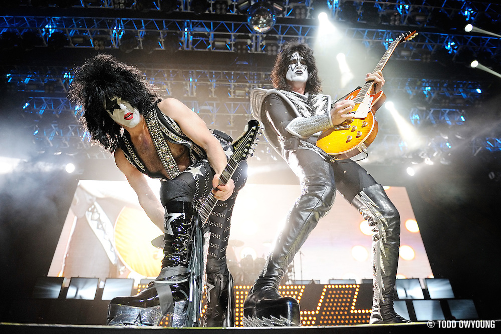 KISS performs on the Alive/35 World Tour in Kansas City on December 15, 2009.