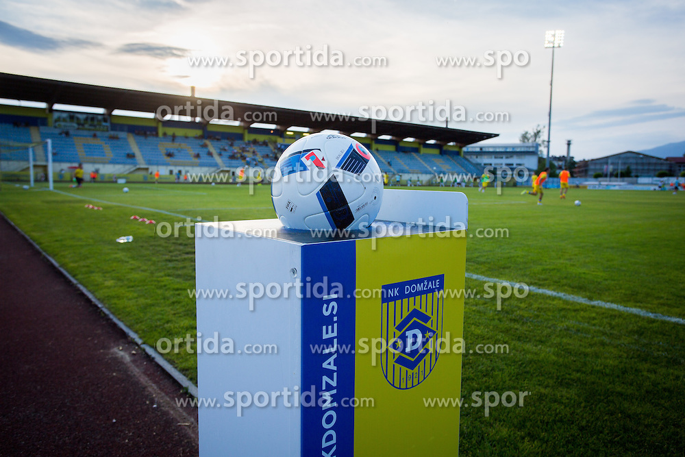 Ball during football match between NK Domzale and FC Lusitanos Andorra in first match of UEFA Europa League Qualifications, on June 30, 2016 in Sports park Domzale, Domzale, Slovenia. Photo by Ziga Zupan / Sportida