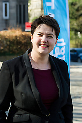 Pictured: Ruth Davidson <br /> <br /> Scottish Conservative leader Ruth Davidson visited Stockbridge in Edinburgh today as she continues o the campaign trail.<br /> <br /> Ger Harley | EEm 25 March 2016