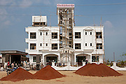 Economic growth in India - new luxury international hotel, Hotel Kariya Ji, being built near Varanasi Airport, India