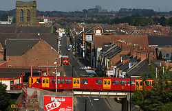 Metro train; Wallsend; Tyneside UK