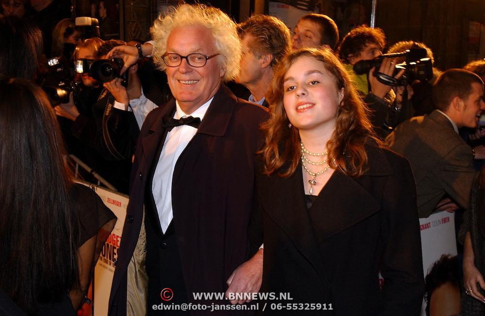 Premiere Bridget Jones Diary II, Henk Spaan en dochter