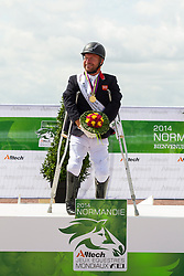 Lee Pearson and Zion World Champion in the Freestyle Grade Ib Para Dressage - Alltech FEI World Equestrian Games™ 2014 - Normandy, France.<br /> © Hippo Foto Team - Leanjo de Koster<br /> 25/06/14