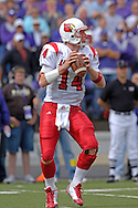 Louisville quarterback Hunter Cantwell drops back to pass against Kansas State at Bill Snyder Family Stadium in Manhattan, Kansas, September 23, 2006.  The 8th ranked Louisville Cardinals beat K-State 24-6.
