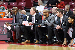 07 January 2018:  Redbird coaching staff and William Tinsley during a College mens basketball game between the Missouri State Bears and Illinois State Redbirds in Redbird Arena, Normal IL