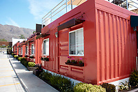 Hotel del Pescador, Ajijic, Jalisco, Mexico. Made from used shipping containers.