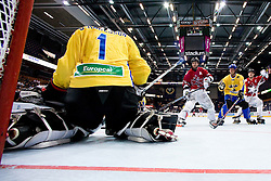 Dennis Karlsson with a save at IIHF In-Line Hockey World Championships Top Division Bronze medal game between National teams of Canada and Sweden on July 4, 2010, in Karlstad, Sweden. (Photo by Matic Klansek Velej / Sportida)