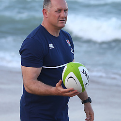 DURBAN, SOUTH AFRICA, 1,June, 2016 - Richard Hill (Team Manager) of the England Saxons during The England Saxons team recovery session at the umhlanga beach Durban, South Africa. (Photo by Steve Haag) England Saxons<br /> <br /> Images for social media must have consent from Steve Haag