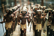 Model soldiers from the tomb of an 18th dynasty pharoah.