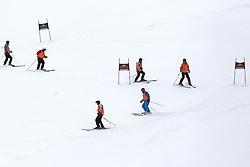 Workers before the 1st Run of Men's Giant Slalom - Pokal Vitranc 2013 of FIS Alpine Ski World Cup 2012/2013, on March 9, 2013 in Vitranc, Kranjska Gora, Slovenia.  (Photo By Vid Ponikvar / Sportida.com)