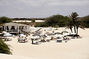 Restaurant of beach on the beach of Chave. Restaurant de plage sur la plage de Chave.