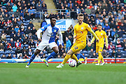 Preston North End Midfielder Paul Gallagher challenges for the ballBlackburn Rovers and Preston North End at Ewood Park, Blackburn, England on 2 April 2016. Photo by Pete Burns.