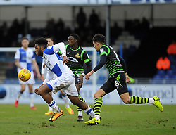 Ellis Harrison of Bristol Rovers gets away from Niall Mason of Doncaster Rovers - Mandatory by-line: Neil Brookman/JMP - 23/12/2017 - FOOTBALL - Memorial Stadium - Bristol, England - Bristol Rovers v Doncaster Rovers - Sky Bet League One