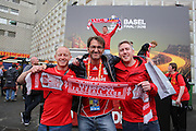Liverpool fans before the Europa League Final match between Liverpool and Sevilla at St Jakob-Park, Basel, Switzerland on 18 May 2016. Photo by Phil Duncan.