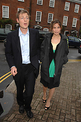 ZAC & SHEHERAZADE GOLDSMITH at the annual Sir David & Lady Carina Frost Summer Party in Carlyle Square, London SW3 on 5th July 2007.<br />