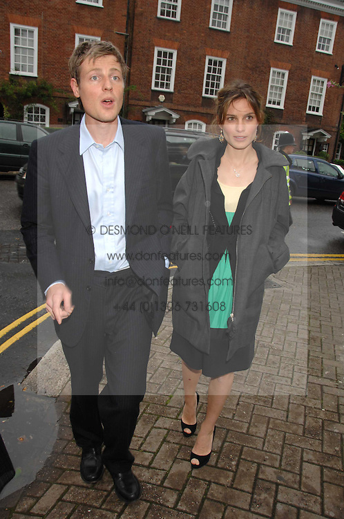 ZAC &amp; SHEHERAZADE GOLDSMITH at the annual Sir David &amp; Lady Carina Frost Summer Party in Carlyle Square, London SW3 on 5th July 2007.<br />