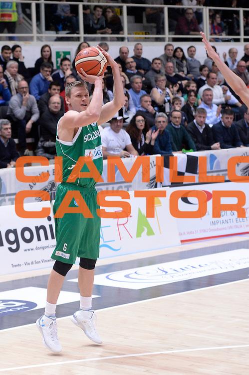 DESCRIZIONE : Trento Lega A 2015-2016 Dolomiti Energia Trentino Sidigas Avellino <br /> GIOCATORE : Benas Veikalas<br /> CATEGORIA : tiro three points<br /> SQUADRA : Sidigas Avellino<br /> EVENTO : Campionato Lega A 2015-2016<br /> GARA : Dolomiti Energia Trentino Sidigas Avellino <br /> DATA : 13/02/2016<br /> SPORT : Pallacanestro<br /> AUTORE : Agenzia Ciamillo-Castoria/Max.Ceretti<br /> GALLERIA : Lega Basket A 2014-2015<br /> FOTONOTIZIA : Trento Lega A 2015-2016 Dolomiti Energia Trentino Sidigas Avellino <br /> PREDEFINITA :