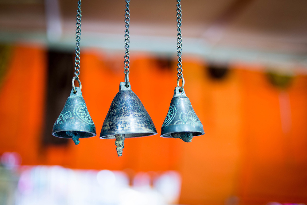 Bhutanese bells at a market in Thimpu <br /> <br /> Full photoessay at http://xpatmatt.com/photos/bhutan-photos/