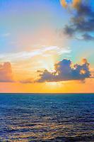 The Sun Rises along the sea shores near Kauai, Hawaii