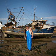Paul Beresford<br /> <br /> Lady Patricia - HL16<br /> <br /> 1st Generation Fishermen<br /> <br /> Main Activity: Netting<br /> <br /> Folkestone was founded on its fishing industry which dates back to pre-Roman times.  During its heyday there were over 100 boats operating out of the busy harbour and employing over 1000 people in the town.  However today, there are only 8 working boats left, employing just over 20 people. The boats are owned and managed by Folkestone families who have a strong fishing heritage. Photographer Andrew Aitchison, has been working with Folkestone Trawlers to capture portraits of the active fishermen in the summer of 2016.