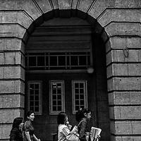 Malaysian women at the street of Kuala Lumpur, Malaysia.