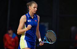 May 16, 2019 - Rome, SPAIN - Karolina Pliskova of the Czech Republic in action during her third-round match at the 2019 Internazionali BNL d'Italia WTA Premier 5 tennis tournament (Credit Image: © AFP7 via ZUMA Wire)