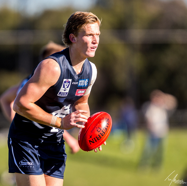 Sunday 2 July 2017<br /> <br /> 2017 Peter Jackson VFL Season<br /> Round 11<br /> <br /> Northern Blues vs Box Hill Hawks<br /> Preston City Oval<br /> <br /> #PJVFL #WeMarchNorth<br /> <br /> Photo Credit: Tim Murdoch/Tim Murdoch Photography