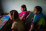 A Board of Directors meeting is held for a Producer Company with over 1900 members in Muzaffarpur, Bihar, India on October 27th, 2016. Non-profit organisation Technoserve works with women vegetable farmers in Muzaffarpur, providing technical support in forward linkage, streamlining their business models and linking them directly to an international market through Electronic Trading Platforms. Photograph by Suzanne Lee for Technoserve