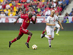 September 22, 2018 - Harrison, New Jersey, United States - Bradley Wright-Phillips (99) of New York Red Bulls controls ball during regular MLS game against Toronto FC at Red Bull Arena Red Bulls won 2 - 0 (Credit Image: © Lev Radin/Pacific Press via ZUMA Wire)