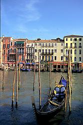 Venice, Italy:  Grand Canal, Rialto area.