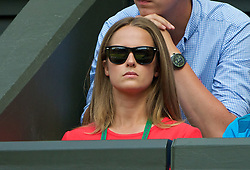 02.07.2014, All England Lawn Tennis Club, London, ENG, ATP Tour, Wimbledon, im Bild Kim Sears, girlfriend of Andy Murray during the Gentlemen's Singles Quarter-Final match on day nine // during the Wimbledon Championships at the All England Lawn Tennis Club in London, Great Britain on 2014/07/02. EXPA Pictures © 2014, PhotoCredit: EXPA/ Propagandaphoto/ David Rawcliffe<br /> <br /> *****ATTENTION - OUT of ENG, GBR*****