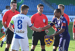 Janez Pišek of Celje and Marcos Magno Morales Tavares of Maribor before football match between NK Maribor and NK Celje in Round #24 of Prva liga Telekom Slovenije 2018/19, on March 30, 2019 in stadium Ljudski vrt, Maribor, Slovenia. Photo by Milos Vujinovic / Sportida