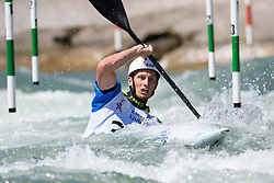 Niko TESTEN of Slovenia during the Kayak Single (MK1) Mens Semi Final race of 2019 ICF Canoe Slalom World Cup 4, on June 30, 2019 in Tacen, Ljubljana, Slovenia. Photo by Sasa Pahic Szabo / Sportida