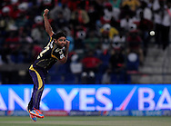 Piyush Chawla of the Kolkata Knight Riders bowls during match 15 of the Pepsi Indian Premier League 2014 Season between The Kings XI Punjab and the Kolkata Knight Riders held at the Sheikh Zayed Stadium, Abu Dhabi, United Arab Emirates on the 26th April 2014<br /> <br /> Photo by Pal Pillai / IPL / SPORTZPICS