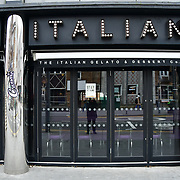 During the coronavirus in UK lockdown Creams Italian close, at Walthamstow Square,on 28 March 2020 London.