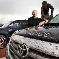 New Zealand Rural Games, the new event celebrating the country's traditional sports and rural heritage, has signed a three-year naming sponsorship agreement with Toyota New Zealand. The event will henceforth be called the Hilux New Zealand Rural Games. 2012 Hilux at the shearer statue, Te Kuiti, Wednesday 13 August 2014.  Photo: Stephen Barker / Barker Photography.  ©NZ Rural Games