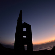 Wheal Prosper as the sunsets in Cornwall.<br />